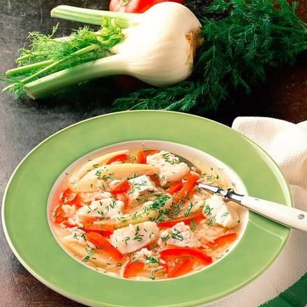 Fischsuppe mit Fenchel und Paprika Rezept