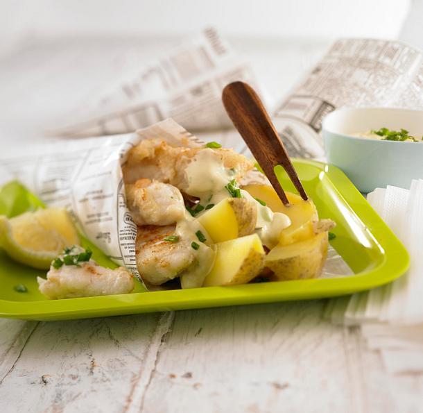 Fish & Chips mit Remoulade Rezept