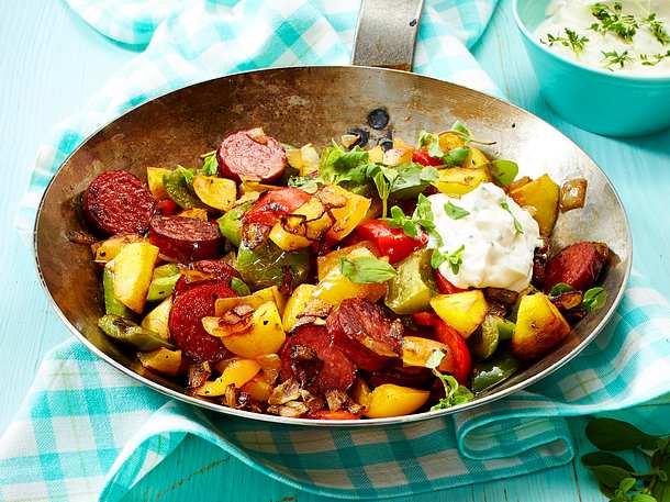 Fix-wie-nix-Wurstgröstl mit Kartoffeln Rezept