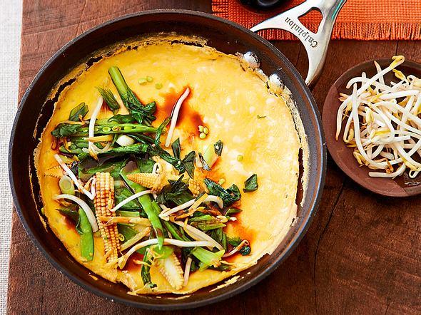Fixes Omelett mit viel Knack drauf Rezept