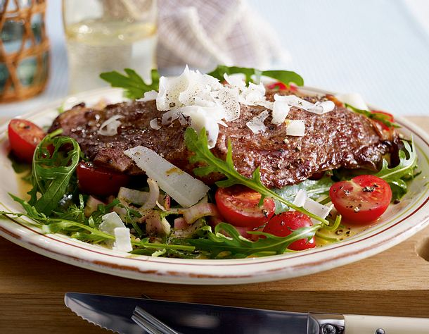 Flach geklopftes Rib-Eye-Steak XXL Rezept