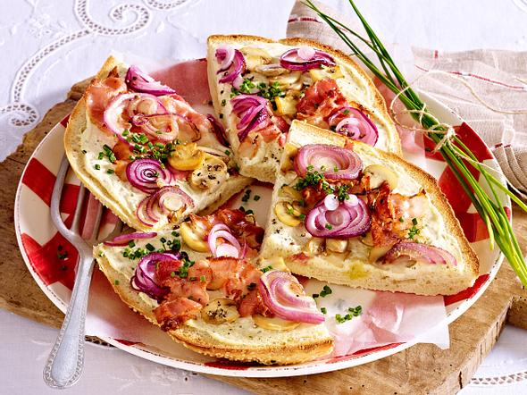 Fladenbrotpizza mit Bacon & Champignons Rezept
