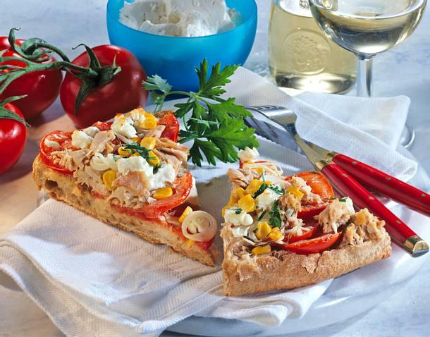 Fladenbrotpizza mit Thunfisch Rezept