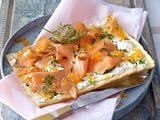 Flammkuchen mit Lachs Rezept