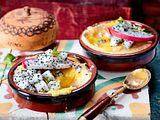 Flan de maiz (Polentacreme mit Mangosoße) Rezept