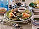 Fleisch- und Fischfondue mit dreierlei Dips Rezept