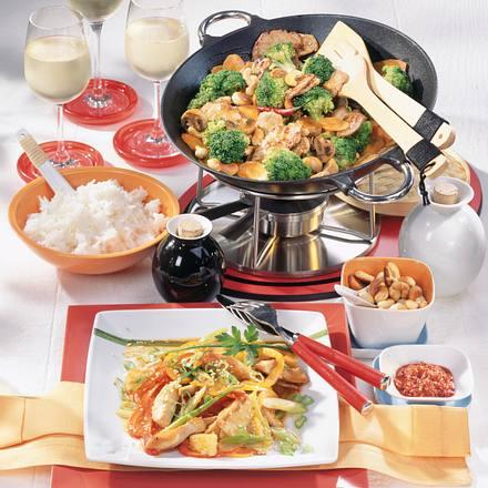 Fleisch-& Gemüse-Fondue Rezept