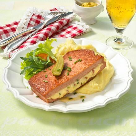 Fleischkäseschnitte mit Obatzterfüllung Rezept