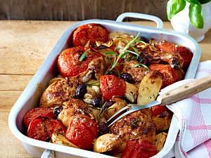 Fleischtomaten zu Hähnchenkeulenmit Gremolata Rezept