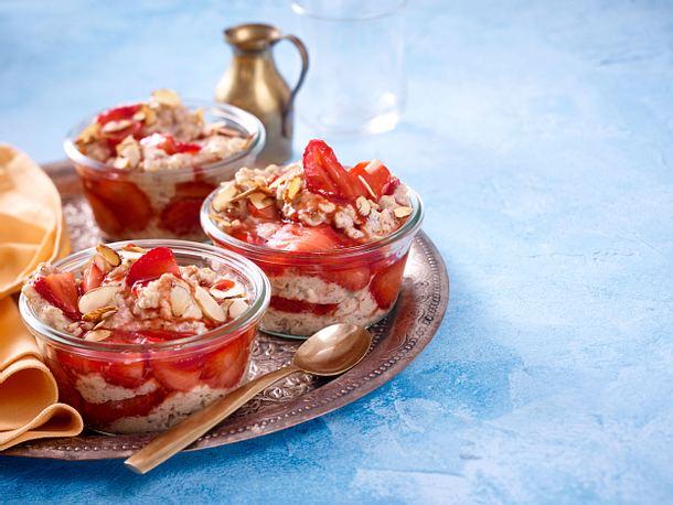 Food-Mandala – Haferbrei mit Erdbeeren Rezept