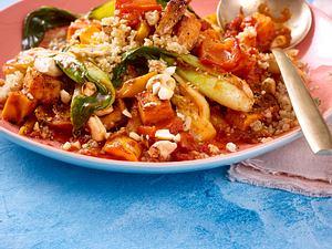 Food-Mandala – Süßkartoffel-Curry Rezept