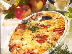 Fränkisches Kartoffel-Wurst-Gratin Rezept