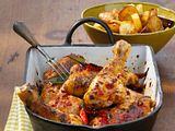 Frango Piri-Piri com batatas fritas (Chilihähnchen mit Kartoffelchips) Rezept