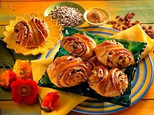 Franzbrötchen mit Sonnenblumenkernen Rezept