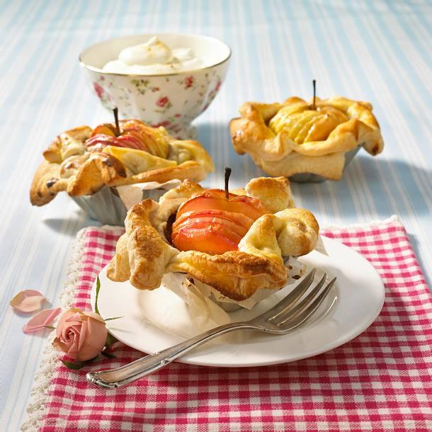 Französische Apfeltarteletts Rezept