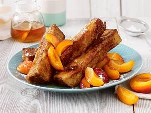 Französische Zimt-Toast-Sticks mit Aprikosen Rezept