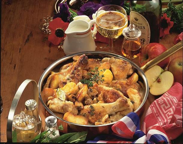 Französisches Apfel-Hähnchen Rezept