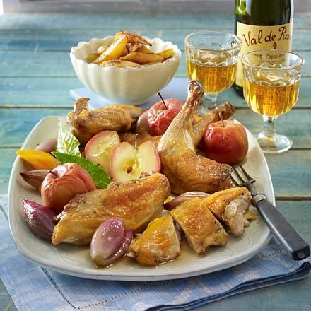 Französisches Cidre-Perlhuhn Rezept