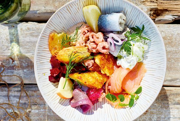 """Friesenbowl """"viermal Fisch"""" Rezept"""