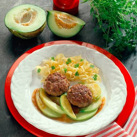 Frikadellen mit Melone Rezept