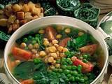 Frische Suppe mit Knoblauch-Croûtons Rezept