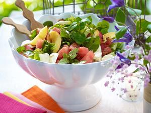 Frischer Mozzarella-Melonen-Salat Rezept