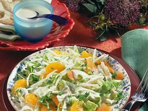 Frischer Salat mit Joghurtdressing Rezept