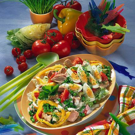 Frischer Salat mit Thunfisch Rezept