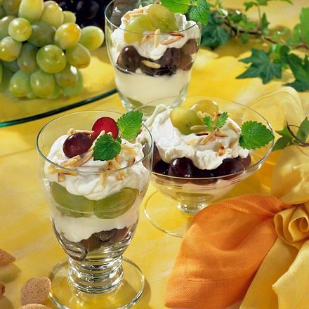 Frischkäse-Creme mit Weintrauben Rezept