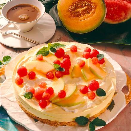 Frischkäse-Melonen-Torte Rezept