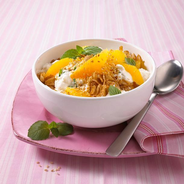 Frischkäse-Müsli mit Orangen (Diät) Rezept