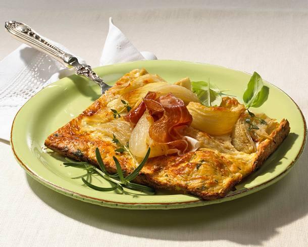 Frischkäse-Zwiebelkuchen Rezept