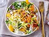 Friséesalat mit Mandarinen und Joghurt-Ingwer-Dressing Rezept