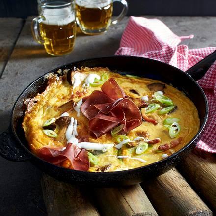 Frittata mit Kräuterseitlingen mit Joghurt-Mayonnaise-Dip Rezept