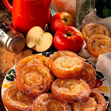Frittierte Apfel-Schnecken Rezept