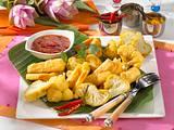 Frittiertes Gemüse mit Chilisoße (Pakora) Rezept