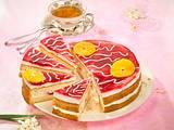 Frucht-Joghurt-Kuchen mit frischen Erdbeeren Rezept