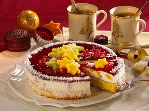 Fruchtig-exotische Weihnachtstorte Rezept