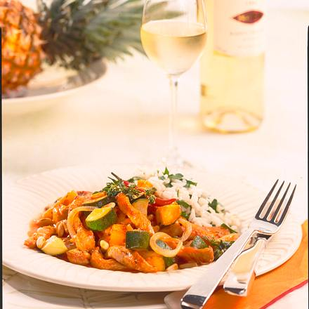 Fruchtige Putenfilet-Zucchini-Pfanne Rezept