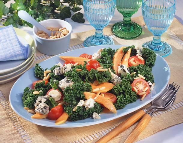 Fruchtiger Grünkohlsalat Rezept