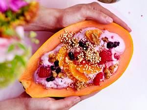 """Fruchtiger Morgengruß """"Papaya Sunrise"""" Rezept"""