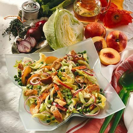 Fruchtiger Salat mit Putenstreifen Rezept
