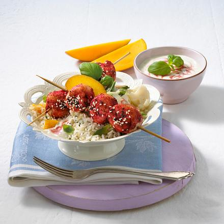Fruchtiger Tandoori-Reissalat Rezept