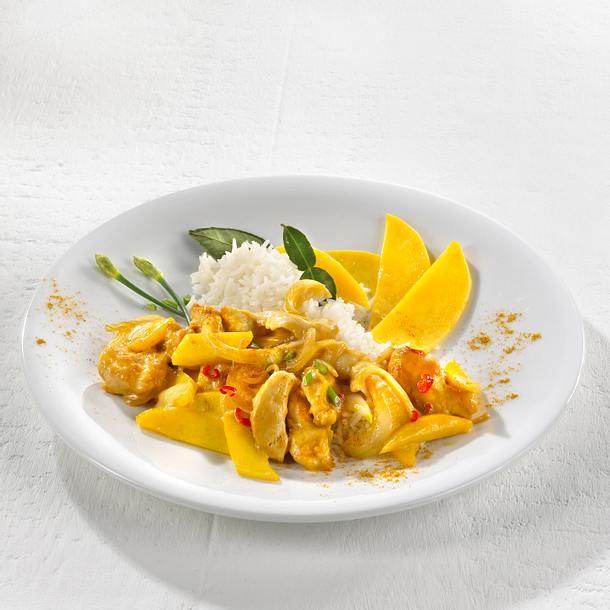 Fruchtiges Hähnchencurry Rezept