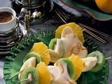 Fruchtspieße mit Sektcreme Rezept