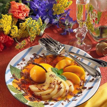 Früchte in Karamelsoße Rezept
