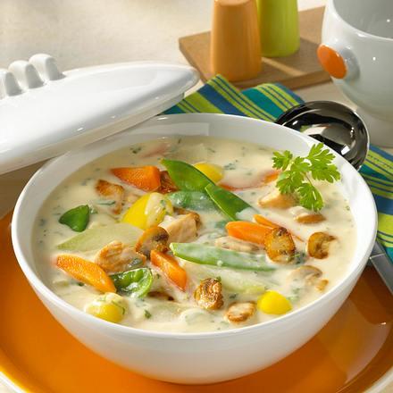 Frühlings-Gemüseragout mit Putenfleisch Rezept