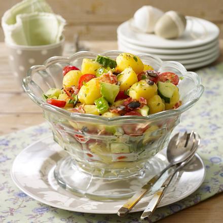 Frühlings-Kartoffelsalat mit Speck (Osterbrunch) Rezept
