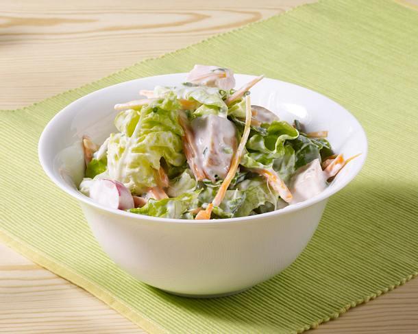 Frühlings-Salat mit Hähnchenfilet (Vorher/Nachher) Rezept