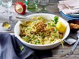 Frühlings-Spaghetti mit grünem Spargel Rezept